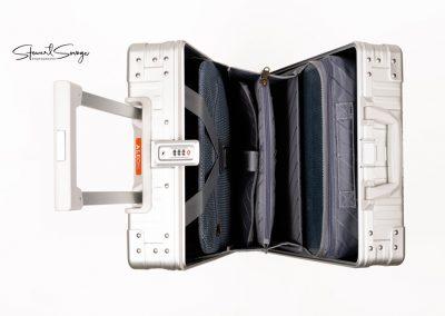 Aleon Aluminum Designer Luggage Carry Case Top View
