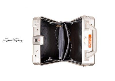 Aleon Aluminum Designer Luggage Top View