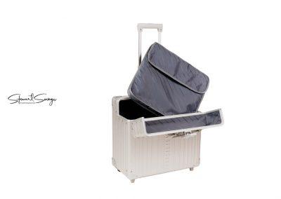 Aleon Aluminum Designer Luggage Pilots Case with Inserts