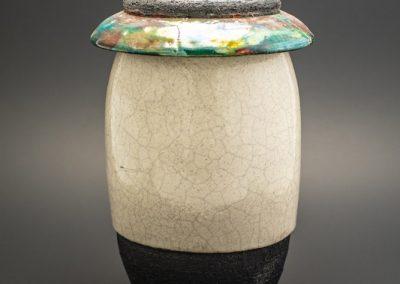 Raku Cremation Urn with Lid