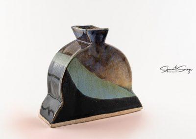 Hand-built ceramic vase