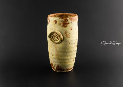 High-Fire Embossed Ceramic Cup