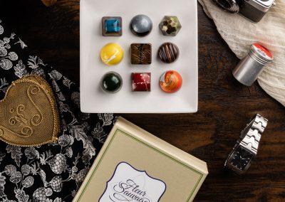Fleur Sauvage Chocolate Product Photography