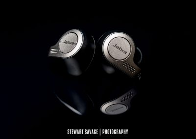 Jabra 65t Earbuds Reflection Product Photography